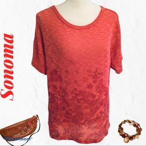 Sonoma Orange Design Sweater